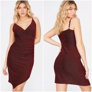 Red sparkly dress - large